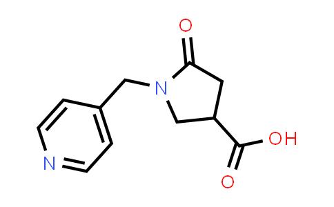 5-Oxo-1-(pyridin-4-ylmethyl)pyrrolidine-3-carboxylic acid