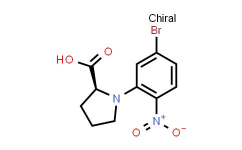 (S)-1-(5-Bromo-2-nitrophenyl)pyrrolidine-2-carboxylic acid