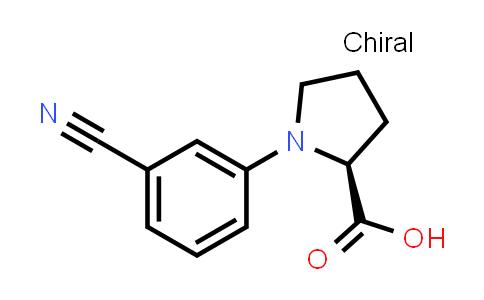 (S)-1-(3-Cyanophenyl)pyrrolidine-2-carboxylic acid