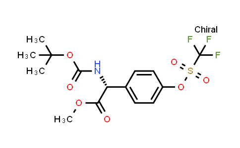 (R)-Methyl 2-((tert-butoxycarbonyl)amino)-2-(4-(((trifluoromethyl)sulfonyl)oxy)phenyl)acetate