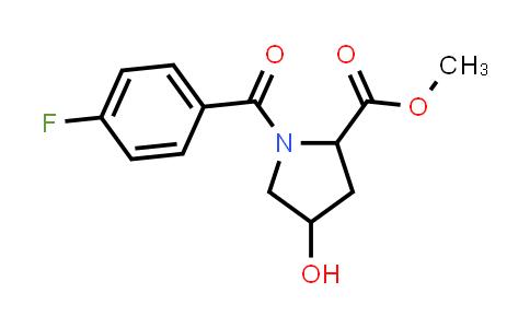 Methyl 1-(4-fluorobenzoyl)-4-hydroxypyrrolidine-2-carboxylate