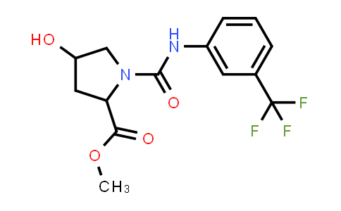 Methyl 4-hydroxy-1-((3-(trifluoromethyl)phenyl)carbamoyl)pyrrolidine-2-carboxylate