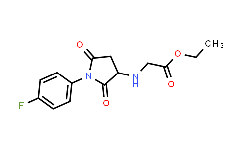 Ethyl 2-((1-(4-fluorophenyl)-2,5-dioxopyrrolidin-3-yl)amino)acetate