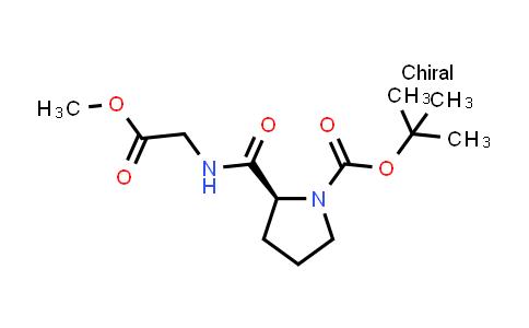 (S)-tert-Butyl 2-((2-methoxy-2-oxoethyl)carbamoyl)pyrrolidine-1-carboxylate