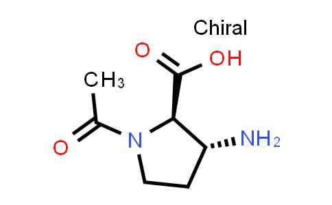 (2R,3R)-1-Acetyl-3-aminopyrrolidine-2-carboxylic acid
