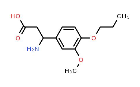 3-Amino-3-(3-methoxy-4-propoxyphenyl)propanoic acid