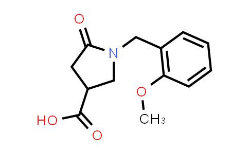 1-(2-Methoxybenzyl)-5-oxopyrrolidine-3-carboxylic acid