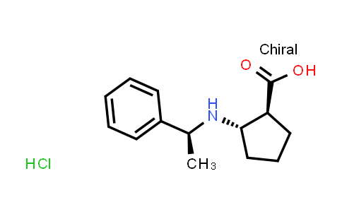(1S,2S)-2-(((S)-1-Phenylethyl)amino)cyclopentanecarboxylic acid hydrochloride