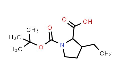 1-(tert-Butoxycarbonyl)-3-ethylpyrrolidine-2-carboxylic acid