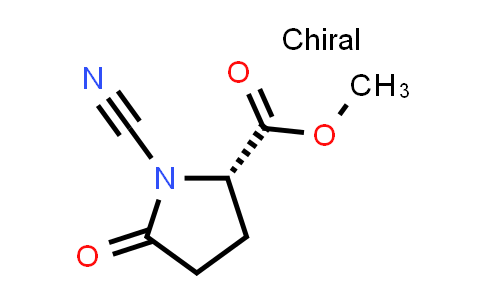 (S)-Methyl 1-cyano-5-oxopyrrolidine-2-carboxylate