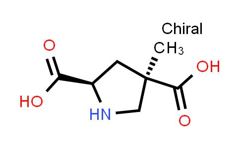 (2R,4R)-4-Methylpyrrolidine-2,4-dicarboxylic acid