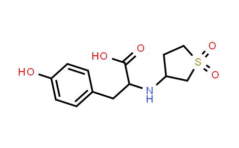 2-((1,1-Dioxidotetrahydrothiophen-3-yl)amino)-3-(4-hydroxyphenyl)propanoic acid