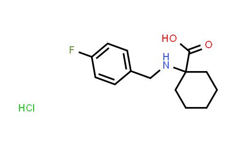 1-((4-Fluorobenzyl)amino)cyclohexanecarboxylic acid hydrochloride