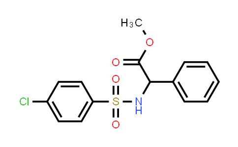 Methyl 2-(4-chlorophenylsulfonamido)-2-phenylacetate