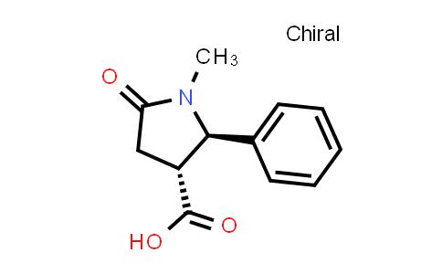 (2R,3R)-1-Methyl-5-oxo-2-phenylpyrrolidine-3-carboxylic acid