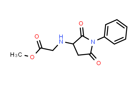 Methyl 2-((2,5-dioxo-1-phenylpyrrolidin-3-yl)amino)acetate