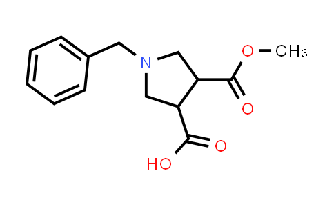 1-Benzyl-4-(methoxycarbonyl)pyrrolidine-3-carboxylic acid
