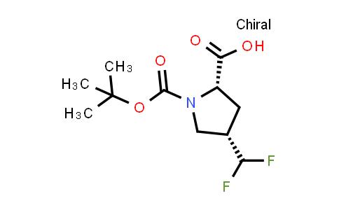 (2S,4S)-1-(tert-Butoxycarbonyl)-4-(difluoromethyl)pyrrolidine-2-carboxylic acid