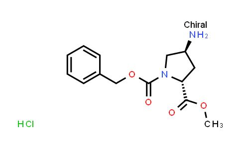 (2R,4S)-1-Benzyl 2-methyl 4-aminopyrrolidine-1,2-dicarboxylate hydrochloride