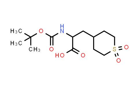 2-[(Tert-butoxycarbonyl)amino]-3-(1,1-dioxidotetrahydro-2H-thiopyran-4-yl)propanoic acid