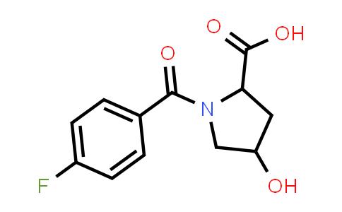 1-(4-Fluorobenzoyl)-4-hydroxypyrrolidine-2-carboxylic acid