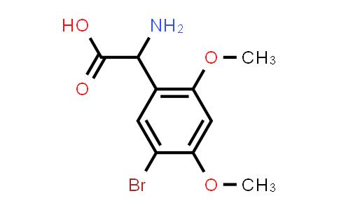 2-Amino-2-(5-bromo-2,4-dimethoxyphenyl)acetic acid