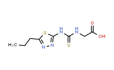 2-(3-(5-Propyl-1,3,4-thiadiazol-2-yl)thioureido)acetic acid