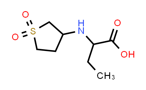 2-((1,1-Dioxidotetrahydrothiophen-3-yl)amino)butanoic acid