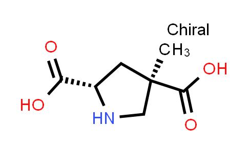 (2S,4R)-4-Methylpyrrolidine-2,4-dicarboxylic acid