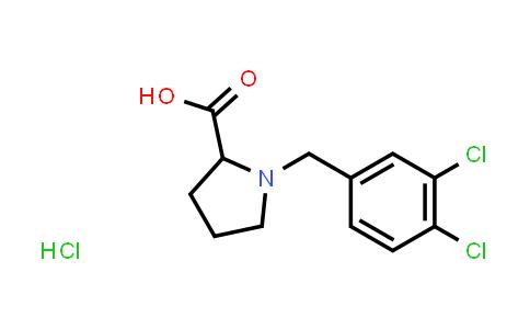 1-(3,4-Dichlorobenzyl)pyrrolidine-2-carboxylic acid hydrochloride