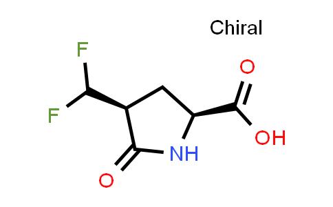 (2S,4S)-4-(Difluoromethyl)-5-oxopyrrolidine-2-carboxylic acid