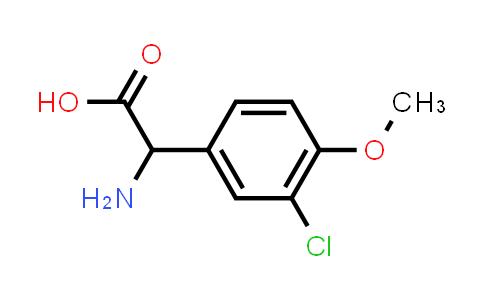 2-Amino-2-(3-chloro-4-methoxyphenyl)acetic acid