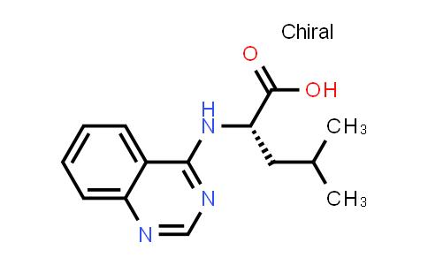 (S)-4-Methyl-2-(quinazolin-4-ylamino)pentanoic acid