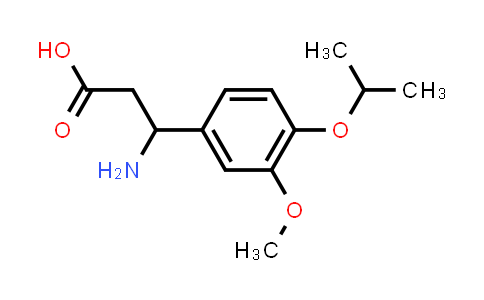 3-Amino-3-(4-isopropoxy-3-methoxyphenyl)propanoic acid