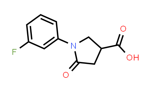 1-(3-Fluorophenyl)-5-oxopyrrolidine-3-carboxylic acid