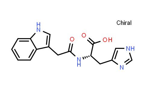 (S)-2-(2-(1H-Indol-3-yl)acetamido)-3-(1H-imidazol-4-yl)propanoic acid