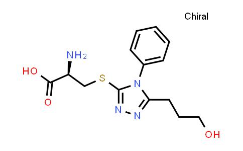 (R)-2-Amino-3-((5-(3-hydroxypropyl)-4-phenyl-4H-1,2,4-triazol-3-yl)thio)propanoic acid