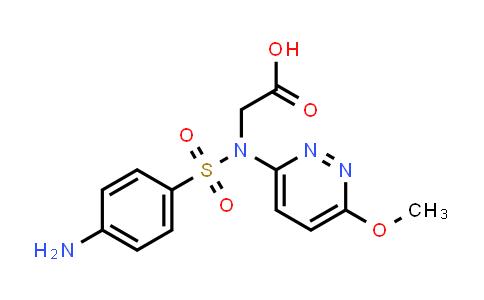 2-(4-Amino-N-(6-methoxypyridazin-3-yl)phenylsulfonamido)acetic acid