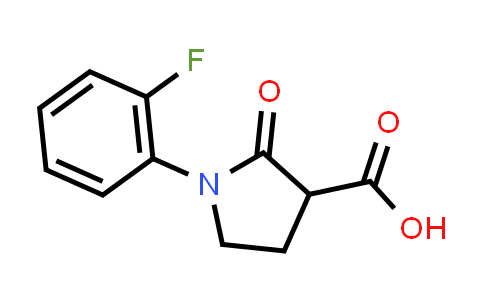 1-(2-Fluorophenyl)-2-oxopyrrolidine-3-carboxylic acid