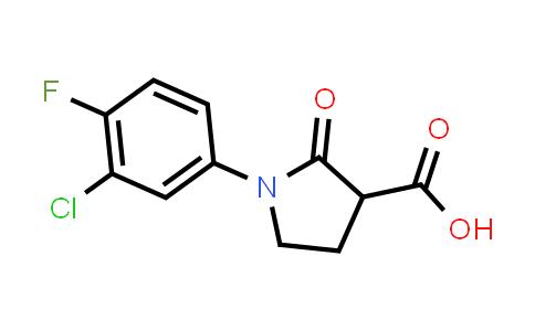 1-(3-Chloro-4-fluorophenyl)-2-oxopyrrolidine-3-carboxylic acid