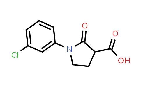 1-(3-Chlorophenyl)-2-oxopyrrolidine-3-carboxylic acid