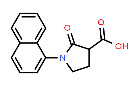 1-(Naphthalen-1-yl)-2-oxopyrrolidine-3-carboxylic acid