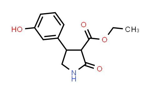 Ethyl 4-(3-hydroxyphenyl)-2-oxopyrrolidine-3-carboxylate