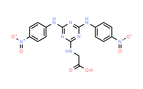2-((4,6-Bis((4-nitrophenyl)amino)-1,3,5-triazin-2-yl)amino)acetic acid