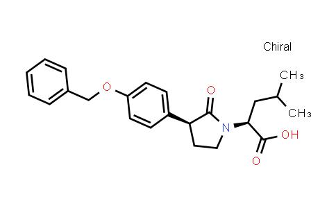 (S)-2-((S)-3-(4-(Benzyloxy)phenyl)-2-oxopyrrolidin-1-yl)-4-methylpentanoic acid