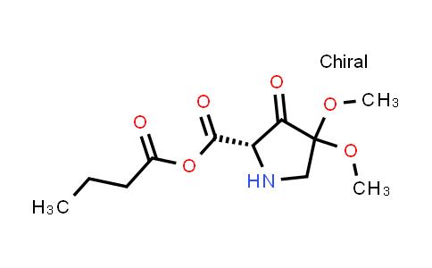Butyric (S)-4,4-dimethoxy-3-oxopyrrolidine-2-carboxylic anhydride