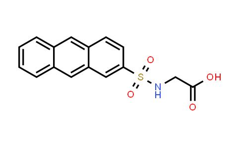2-(Anthracene-2-sulfonamido)acetic acid