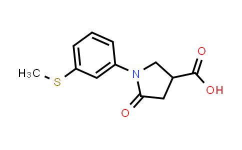1-(3-(Methylthio)phenyl)-5-oxopyrrolidine-3-carboxylic acid