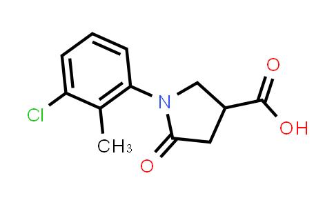 1-(3-Chloro-2-methylphenyl)-5-oxopyrrolidine-3-carboxylic acid