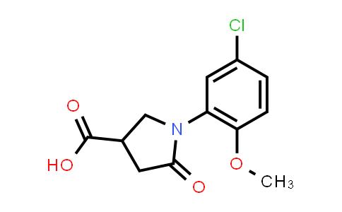 1-(5-Chloro-2-methoxyphenyl)-5-oxopyrrolidine-3-carboxylic acid